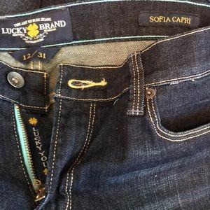 Lucky 🍀 Brand Blue Jeans Womens Sz 12 Sofia Capri